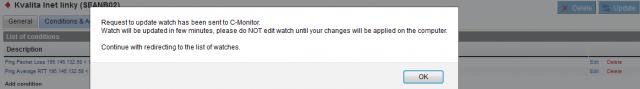 Upozornenie aby ste needitovali watch počas prenosu na PC