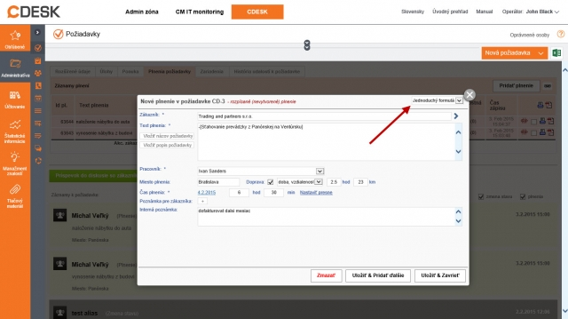 Nový formulár pre pridávanie plnení v požiadavke - zjednodušený / úplný
