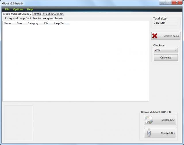 Spustenie programu XBOOT pre vytvorenie bootovacieho USB kľúča
