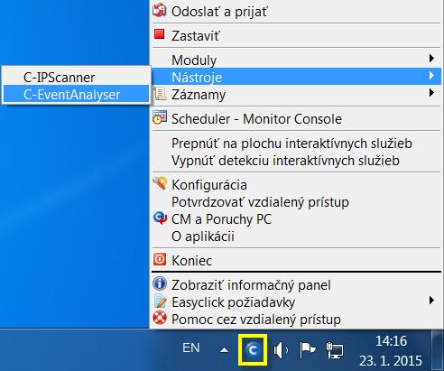 Znázornenie ikonky C-Monitora pre otvorenie EventAnalyseru.