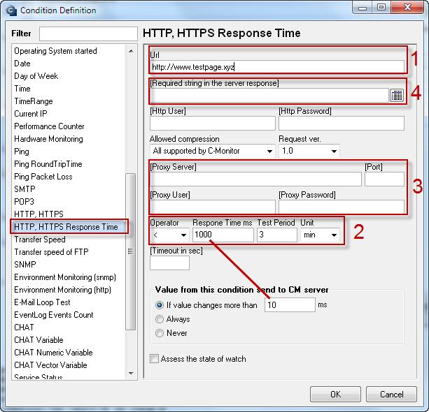 Obrázok: HTTP, HTTPS response time
