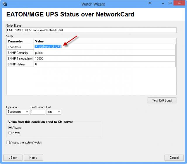 Nastavenie IP adresy, ktorú používa UPS