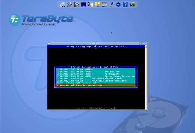 Uloženie cieľovej lokality pre skonvertovanú zálohu na rovnaký disk ako pôvodná C-Image záloha