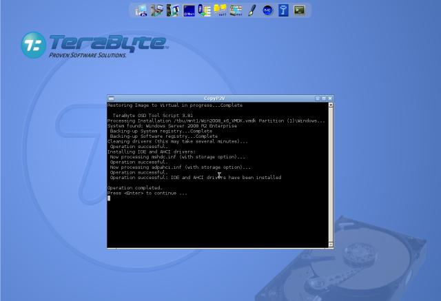 Úspešné ukočenie automatického skriptu, ktorý zabezpečí bezproblémové nabootovavnie novej VM