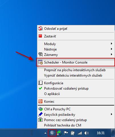Vytvorenie novej úlohy v C-Monitor Scheduleri
