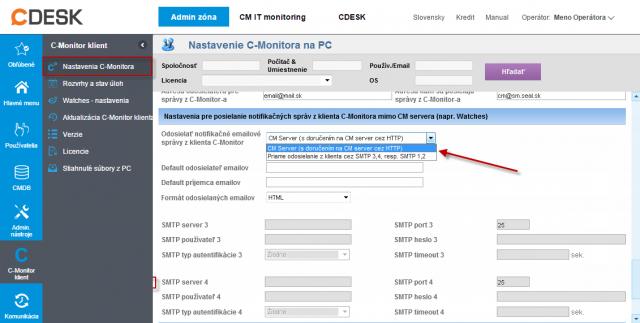 Nastavenie odosielania notifikačných správ jednoduchším spôsobom (cez CM Server)