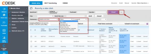 Použitie rozšíreného filtra pre nájdenie úloh na spoločnú editáciu