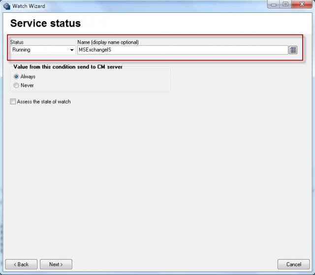 Sledovanie funkčnosti služieb pre Exchange Server