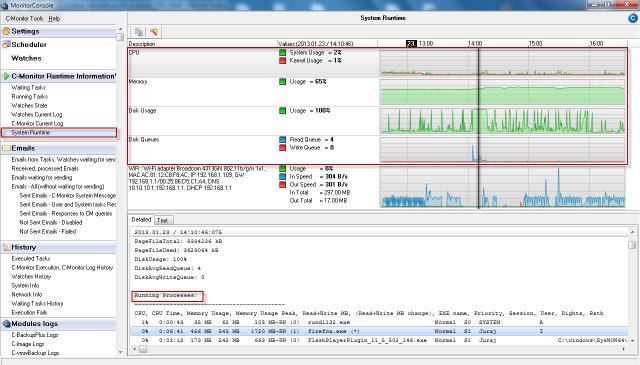 Zobrazenie System Runtime v C-Monitor Windows klientovi