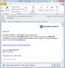 Notifikačný email o poruche