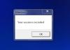 Ukážka dialógu, ktorý informuje o odchytávaní screenshotov po každom prihlásení na server.